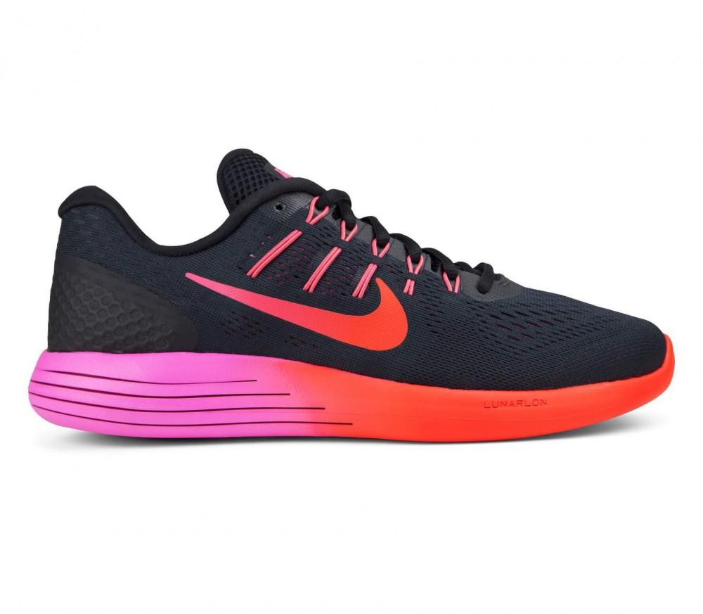 Nike - LunarGlide 8 Dames ren schoen (zwart/roze)