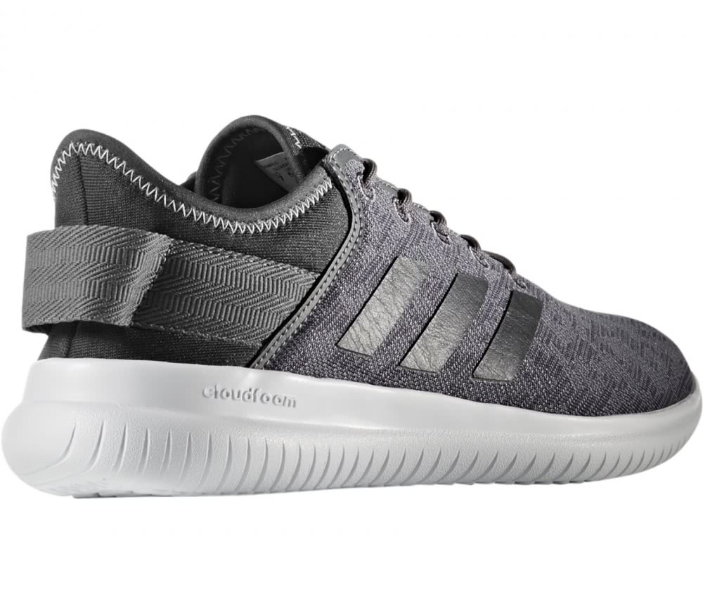 adidas neo   cf qtflex women s running shoes grey black