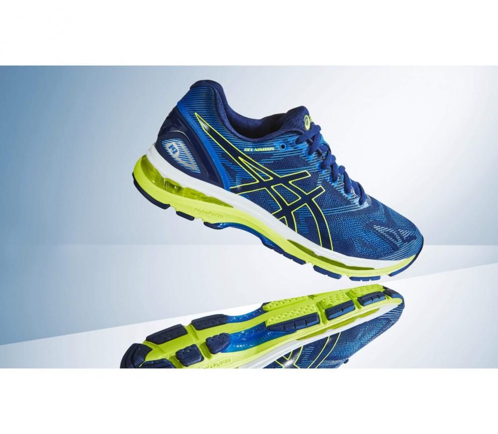 asics gel nimbus 19 men 39 s running shoes blue yellow online kopen in de keller sports. Black Bedroom Furniture Sets. Home Design Ideas